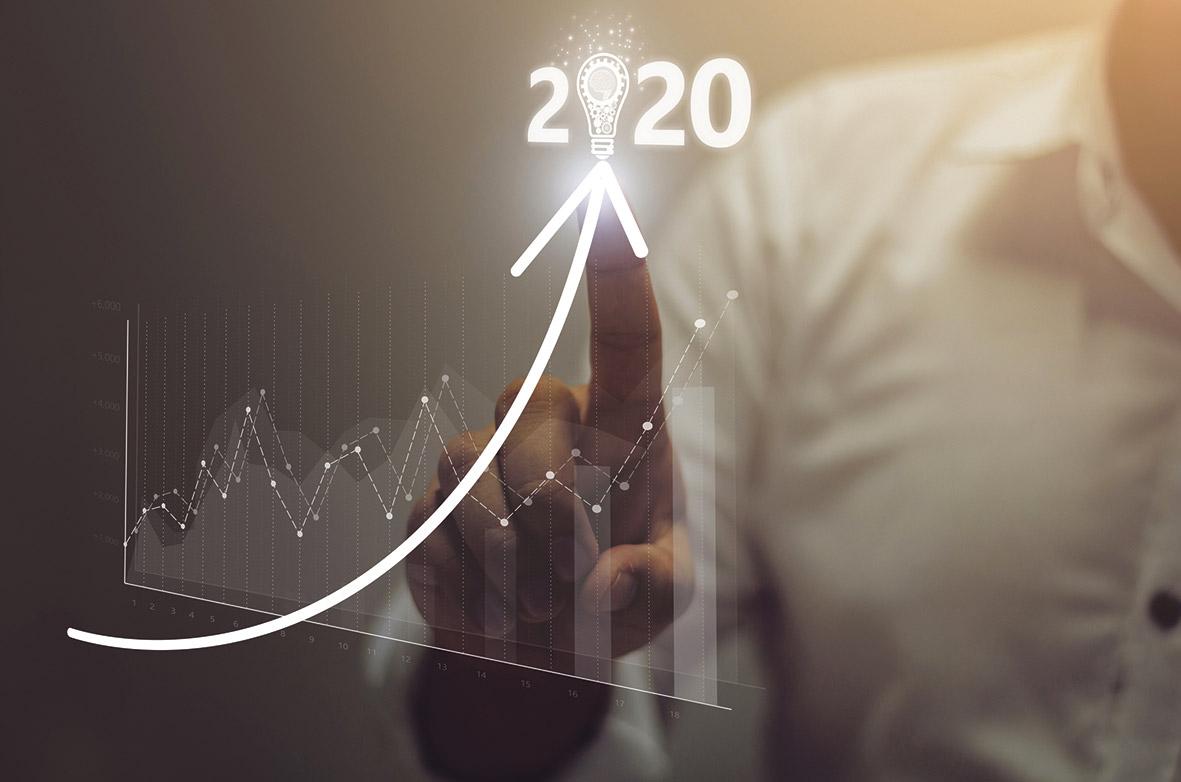 Nach oben steigender Pfeil vor Aktienkursen