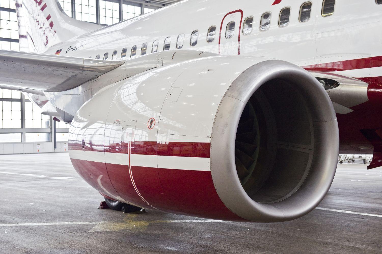 Ausschnitt einer Flugzeugturbine