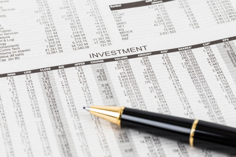Tabelle mit Börsenzahlen, Thema: Indexzertifikate