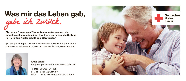 Anzeige: Deutsches Rotes Kreuz