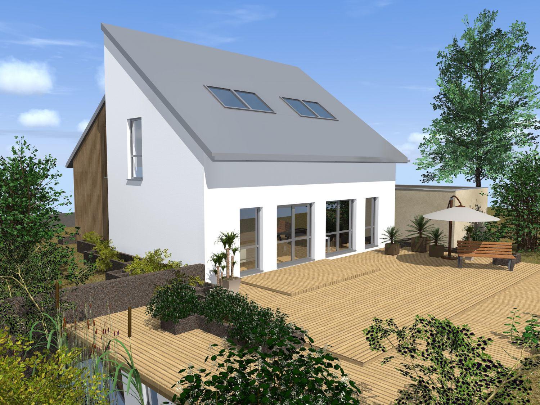 Doppelhaushälte mit Terrasse